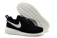Кроссовки Nike Roshe Run Black White Черные женские