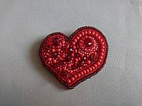 "Красная брошь ""Валентина"", фото 1"