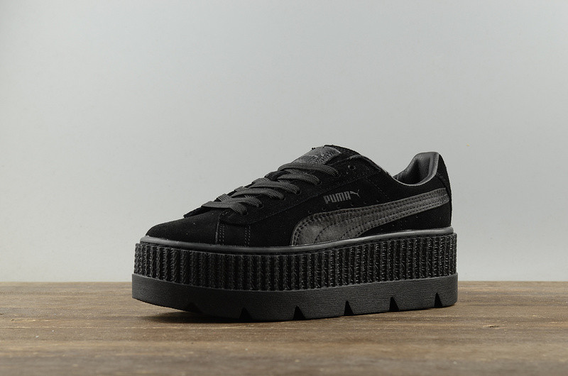 a60b06e69b72a4 Женские кроссовки Puma x Fenty Cleated Creeper Platform Black - Компания