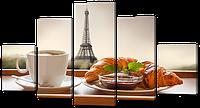 "Модульная картина ""французский завтрак"""