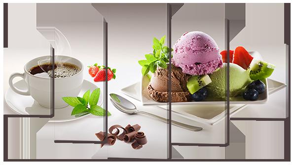 """Модульная картина """"Кофе с мороженым"""""""
