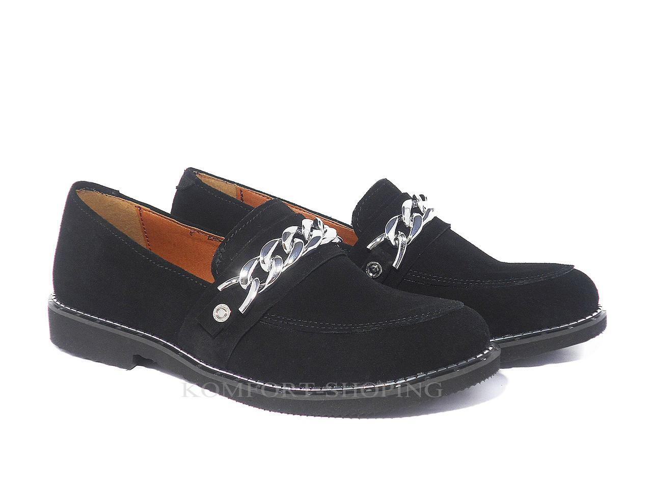 Туфли  женские замшевые V 1168