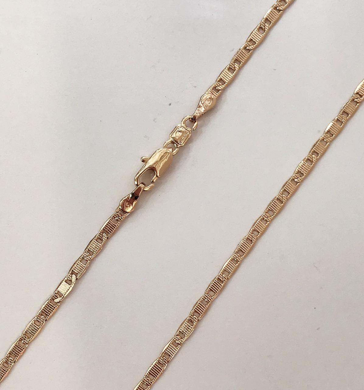 Цепочка плетение Морская цепь длина 45 см H-2 мм позолота 18К