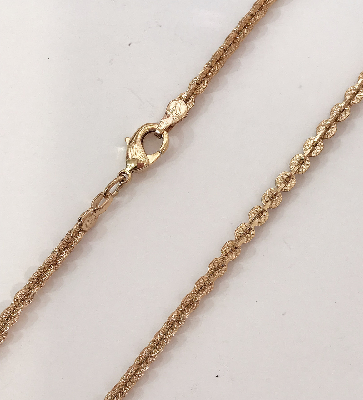 Цепочка плетение Кроча(Венецианское) длина 50 см H-3 мм позолота 18К
