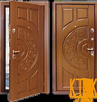 """Уличная дверь серии Комфорт """"Рассвет""""  (внутри - венге, снаружи - дуб бронзовый), фото 1"""