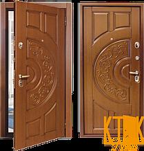 """Вулична двері серії Комфорт """"Світанок"""" (всередині - венге, зовні - дуб бронзовий)"""