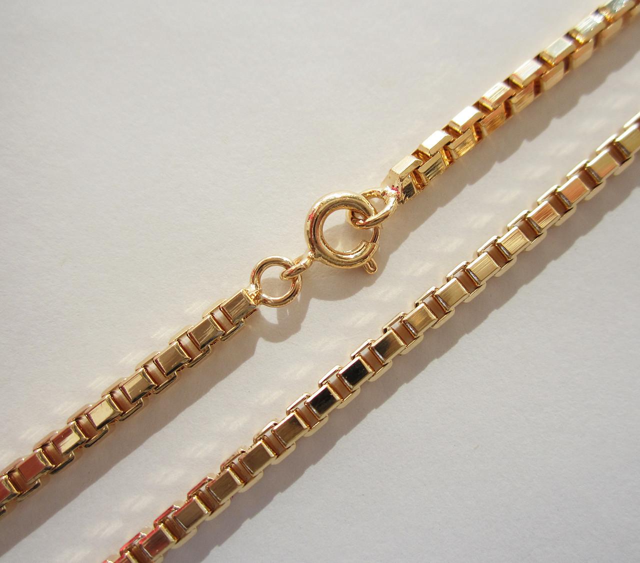Цепочка плетение Венецианское длина 45 см H-3 мм позолота 18К