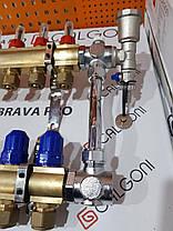 Коллектор для теплого пола на 2 контура Gross (Польша), фото 3