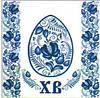 Салфетка La Fleur пасх голубой декор
