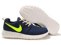 Кроссовки Nike Roshe Run Blue Green Синие женские