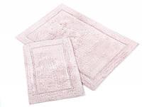 Набор ковриков для ванной Irya Gloria pembe розовый 60*90+40*60