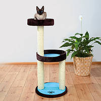 Когтеточка,дряпка Trixie TX-43870 драпак для кота Lugo 103см, корич./бирюза, фото 2