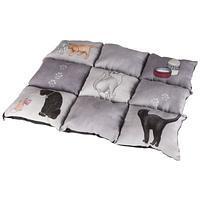 Trixie TX-37074 Матрас Patchwork 45*55см серый с кошками
