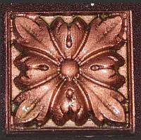 Гипсовый декор, орнамент, одноцветный, 6,2 х 6,2 см.