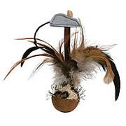 Trixie  TX-45730 Мяч с перьями и мышкой-игрушка для кошек