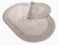 Набор ковриков для ванной Irya Laverne vizon кофе розовый 60*90+40*60
