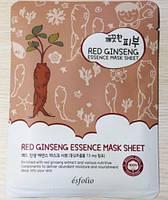 Корейская маска для лица омолаживающая с красным женьшенем Esfolio