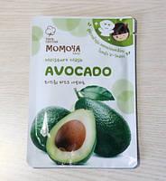 Тканевая маска для лица и шеи с авокадо Mamoya