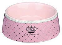 Trixie  TX-24780  Cat Princess  миска для кошек  (0,18л)