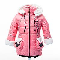 """Зимовий оригінальне пальтечко для маленької дівчинки """"Пандора"""", фото 1"""