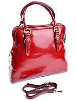 Женская сумка саквояж из кожи GW-0173 красная, фото 1