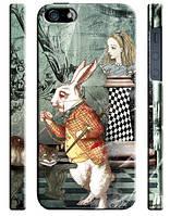 Чехол для iPhone 4/4s/5/5s/5с Алиса в стране чудес, кролик