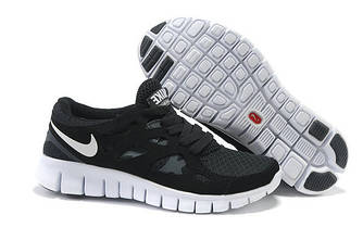 Кроссовки Nike Free Run 2.0 Black White Черные женские