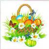Салфетка La Fleur пасх цветущая корзинка