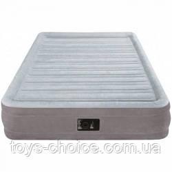 Велюр Кровать Intex 137-191-33 См. Со Встроенным Насосом 220 В. Ps