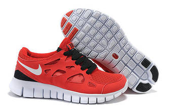 Кроссовки Nike Free Run 2.0 Red Красные женские
