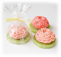 """Подарок женщине 8 марта красивое мыло натуральное """"Пион"""""""