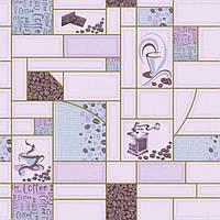 """Обои рулонные бумажные влагостойкие """"Кофе 2057 ТМ Континент (Украина) 0,53*10,05"""