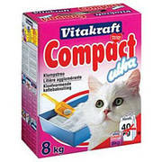 Vitakraft Compact Ultra Plus 8кг-комкующийся наполнитель (16079)