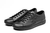 Мужские кожаные кеды кроссовки Philipp Plein (Филипп Плейн) в наличии, чёрный. Размер 40-45