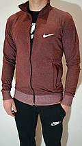 Чоловічий спортивний костюм Nike (Найк) | трикотаж, двухнитка, розміри: 44-54, колір: бордовий/черний, фото 3