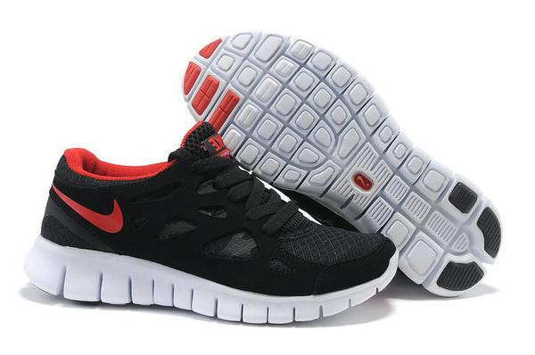 Кроссовки Nike Free Run 2.0 Black Red Черные женские