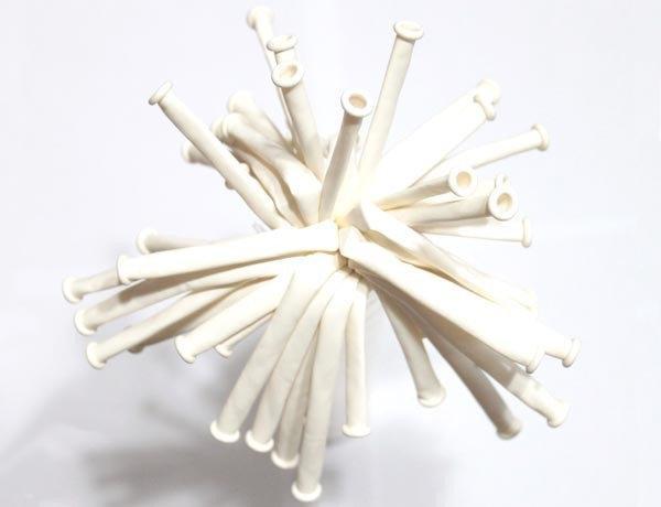 ШДМ Белые - латексные шары для моделирования (диаметр 5 см) TM Gemar