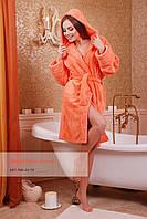 Женский махровый халат на запах, фото 1