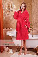 Махровый халат на запах для дома, фото 1