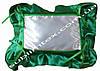 Подушка, натуральный наполнитель, с накладной вставкой на завязках для печати,размер 35х45см., цвет зеленый