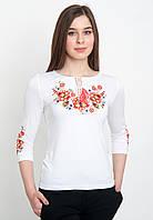 Блузка с вышивкой трикотажная (вышиванка), арт. 5124