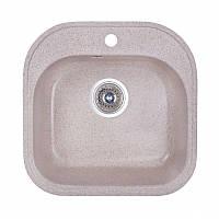 Кухонная гранитная мойка Fosto круглая - (Ø510 мм, глубина 175 мм), 1 чаша, цвет песок