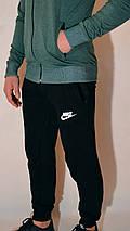 Мужской спортивный костюм Nike (Найк) | трикотаж, двухнитка, размеры: 44-54, цвет: зеленый/черный, фото 3