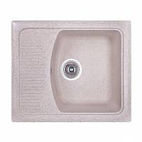 Кухонная гранитная мойка Fosto прямоугольная - (580x500 мм, глубина 178 мм), 1 чаша, цвет песок