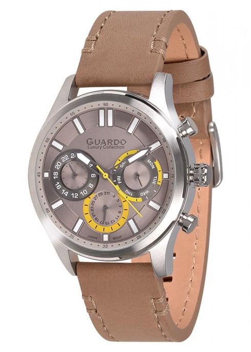 Чоловічі наручні годинники Guardo S01313 SGrBg