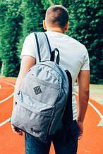"""Рюкзак  серый Backpack Pobedov """"Roominess"""" ( Gray )"""