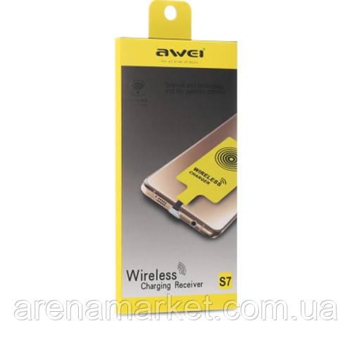 Приемник для беспроводной зарядки Awei S7 Micro USB 5V 800MA
