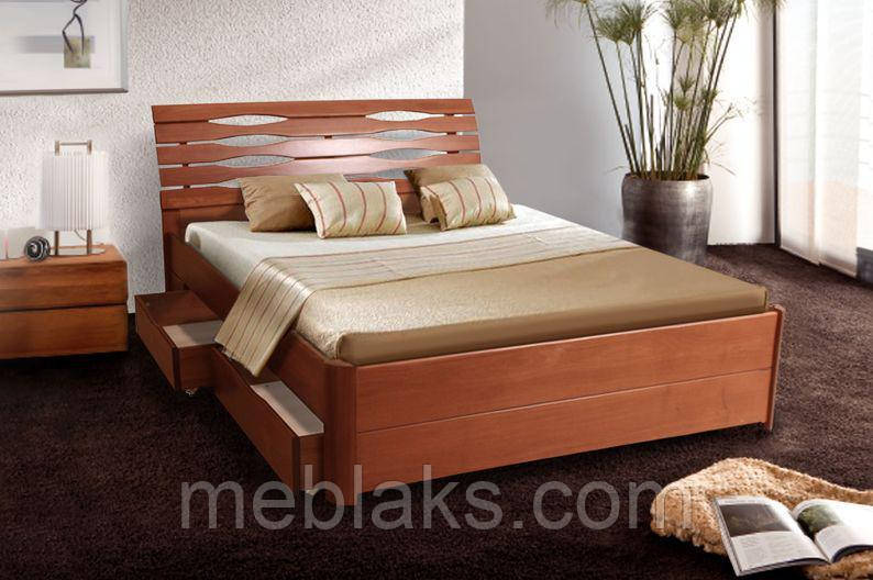 """Кровать деревянная """"Мария Люкс"""" c 4-мя ящиками (серия Мария)  Микс Мебель"""