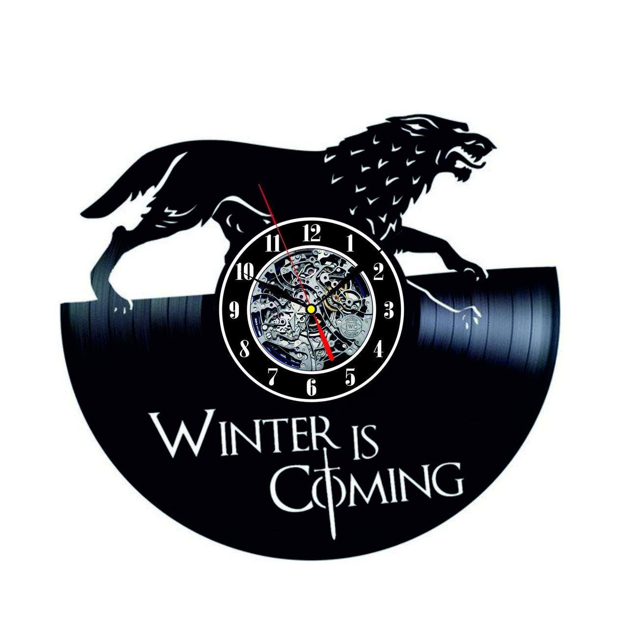 Настенные часы из виниловых пластинок LikeMark Game of Thrones