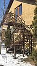 Кованая лестница уличная, фото 3